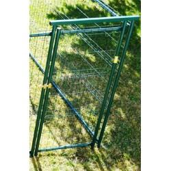 La porte de 0,80 de large renforcée plastifié vert