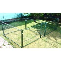 Double ou accolé 2 x 50 m², plastifié vert, soit 100 m² (14,25 m x 7,05 m) (les photos ne correspondent pas aux dimensions)